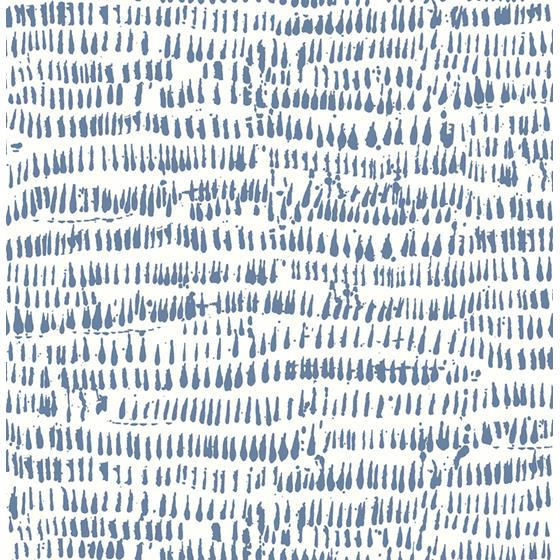 2764-24357 Runes Blue Brushstrokes Mistral by A-Street Prints