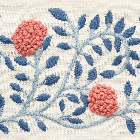 76290 Ashoka Tape Rose and Sky by Schumacher Fabric3