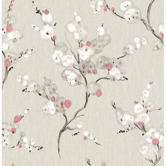 2764-24307 Bliss Coral Blossom Mistral by A-Street Prints