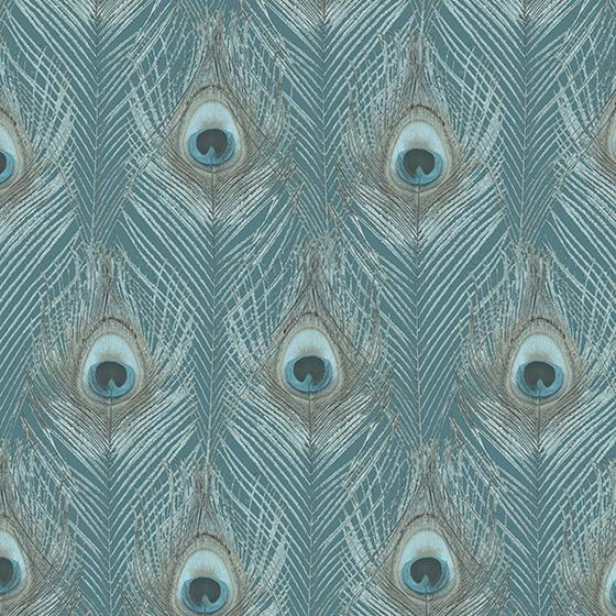 G67978 Organic Textures, Blue Peacock Wallpaper by