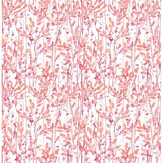 2656-004055 Catalina Pink Leaves by A-Street Prints Wallpaper
