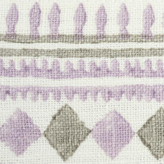 77332 Toula Hand Blocked Linen Tape Lilac and Grey by Schumacher Fabric3