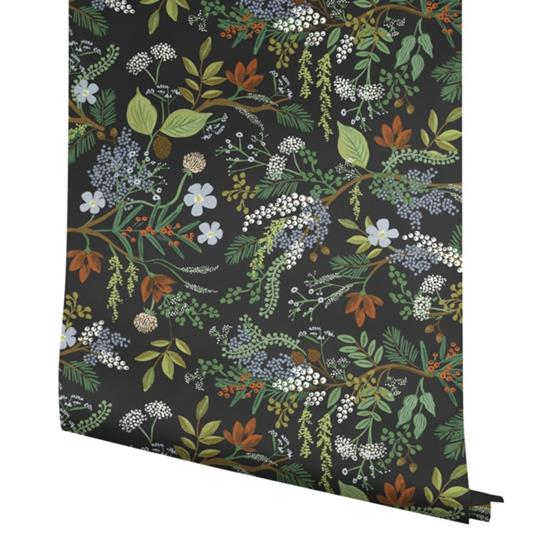 RI5166 Rifle Paper Co. Juniper Forest Black York Wallpaper3