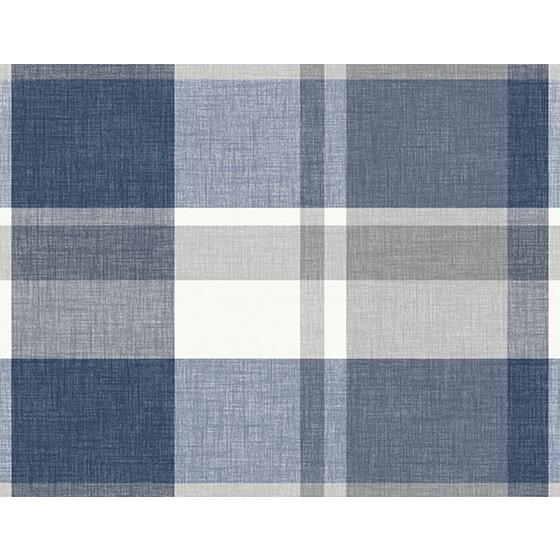 2927-81102 Newport Madaket Indigo Plaid by A-Street Prints Wallpaper