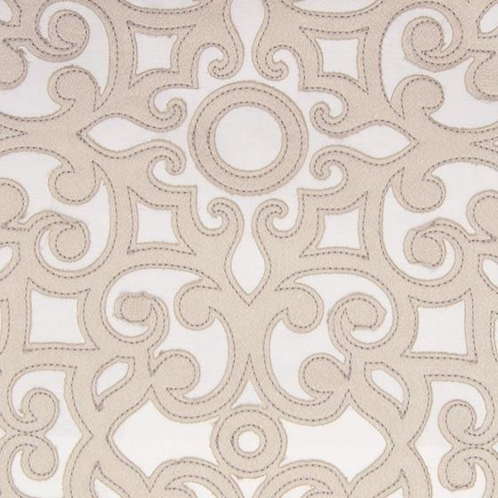 B8026 Natural, Neutral Scroll by Greenhouse Fabric