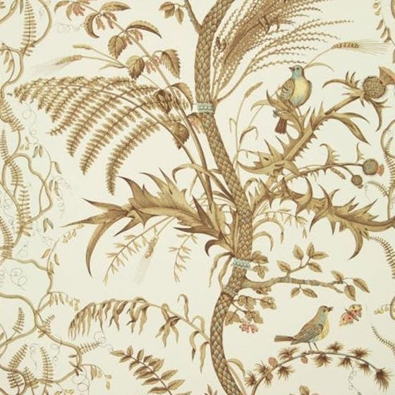 BR-69518.068 Bird And Thistle Beige Brunschwig and