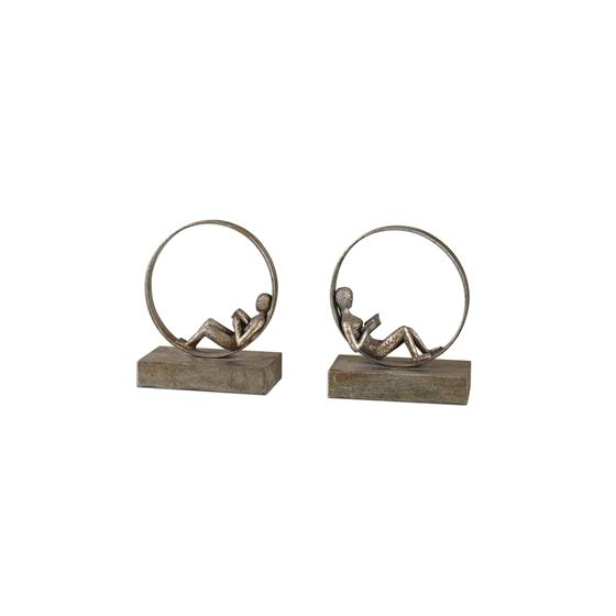 19596 Lounging Reader Bookends S/2 by Uttermost-3