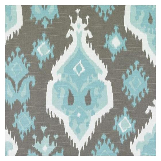 42454-639 Turquoise/Cocoa - Duralee Fabric