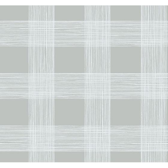 2927-80908 Newport Scarborough Grey Striated Plaid by A-Street Prints Wallpaper