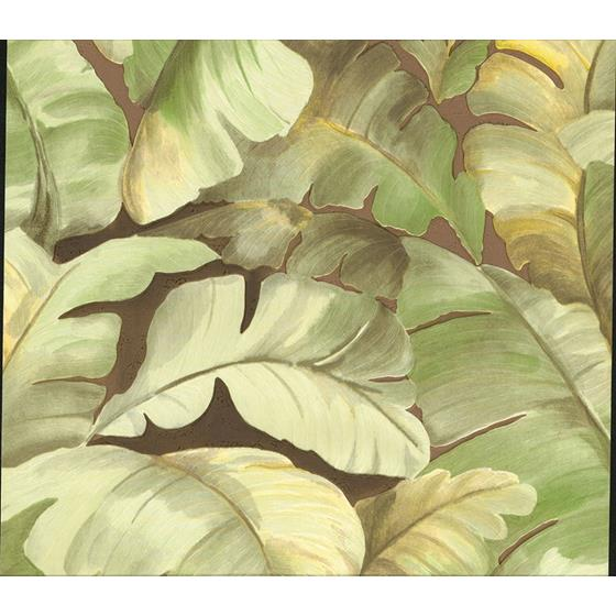 2835-SY5152P Deluxe Mardan Lime Banana Leaf by Advantage Wallpaper