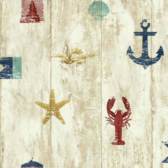 NY4882 Nautical Living by York Wallpaper