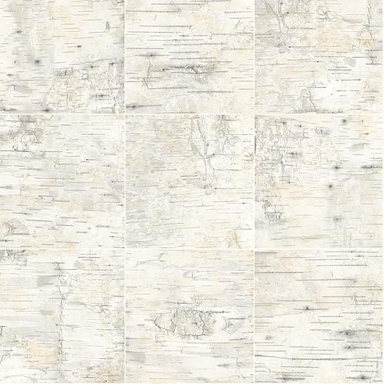 3118-12642 Birch and Sparrow Champlain Grid Wood by Chesapeake Wallpaper