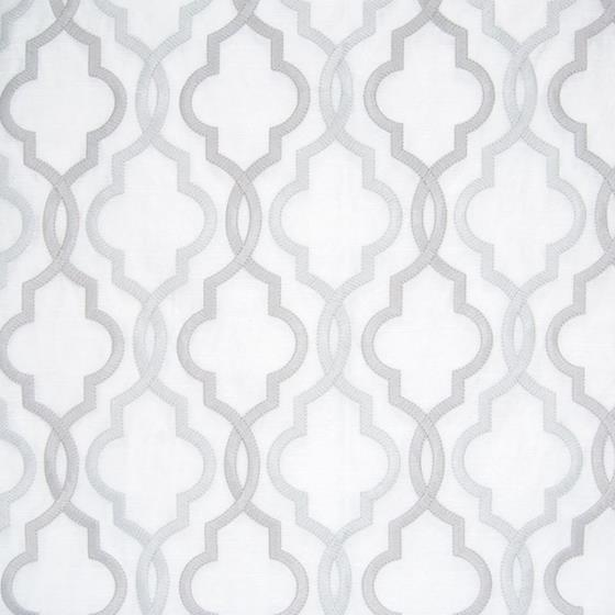 B8037 Platinum, Gray Geometric by Greenhouse Fabri