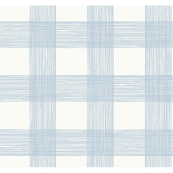 2927-80912 Newport Scarborough Light Blue Striated Plaid by A-Street Prints Wallpaper