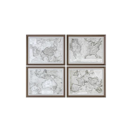 33639 World Maps S/4 by Uttermost-3