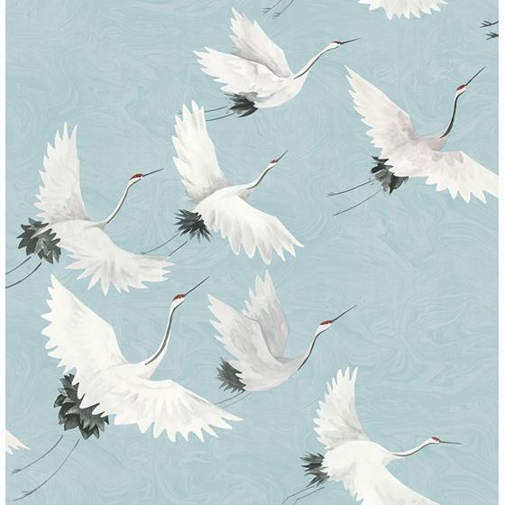2764-24300 Windsong Blue Crane Mistral by A-Street Prints