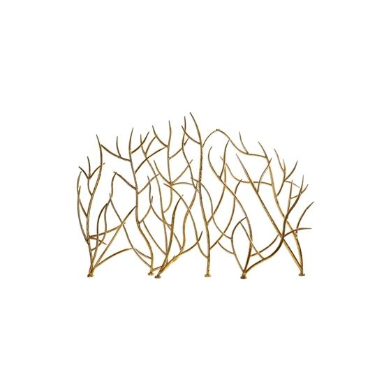 18796 Gold Branches Decorative Fireplace by Utte-3