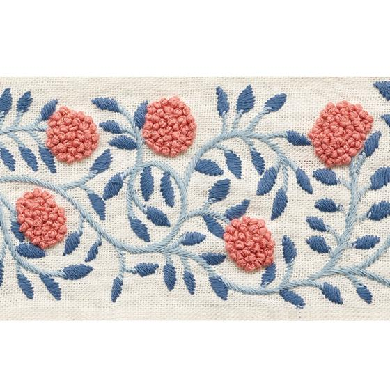 76290 Ashoka Tape Rose and Sky by Schumacher Fabric