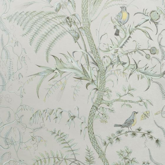 BR-69518.1111 Bird And Thistle Silver Brunschwig and Fils