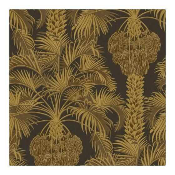 113-1001 Hollywood Palm Charcoal and Gold by Cole