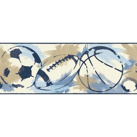 BS5309BD Sports Balls Border by York Wallcoverings