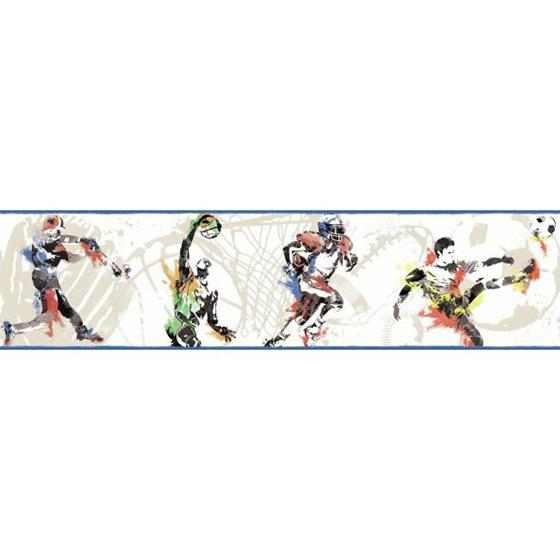 BS5305BD Sports Players Border by York Wallcoverings