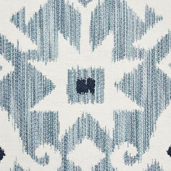 """So7652105 Crusoe Ikat 20"""" Pillow Sky By Schumacher Furniture and Accessories 3"""