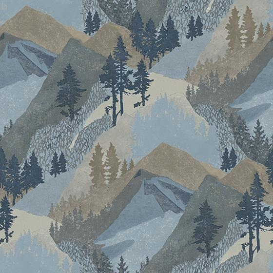 3118-12631 Birch and Sparrow Range Mountains by Chesapeake Wallpaper