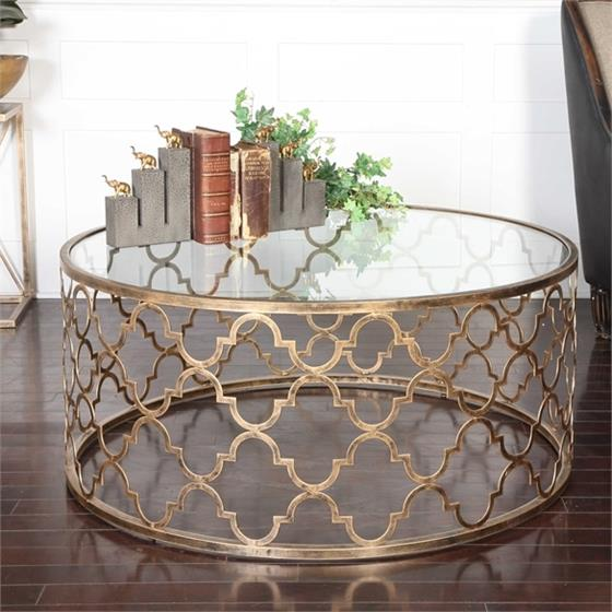 25015 Quatrefoil Coffee Table by Uttermost