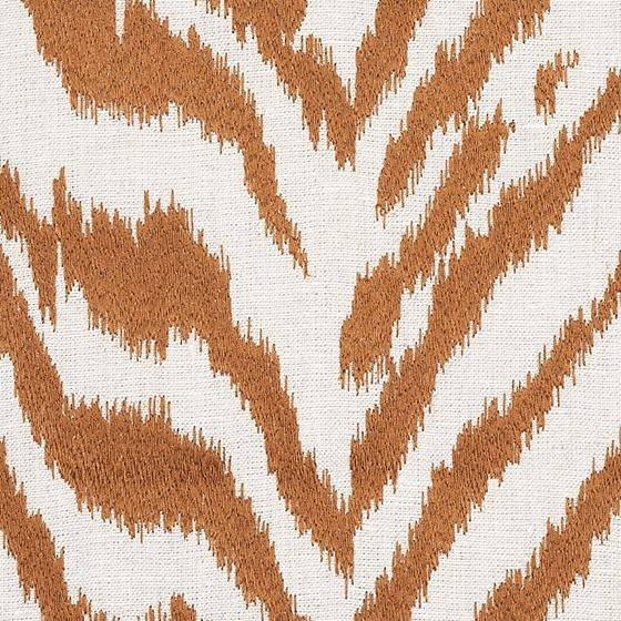 80671 Quincy Embroidery On Linen Toast By Schumacher Fabric 3