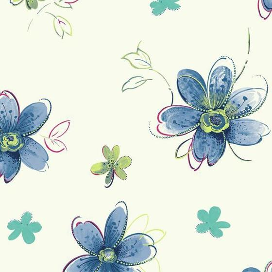 SB7612 Bohemian Floral by York Wallcoverings