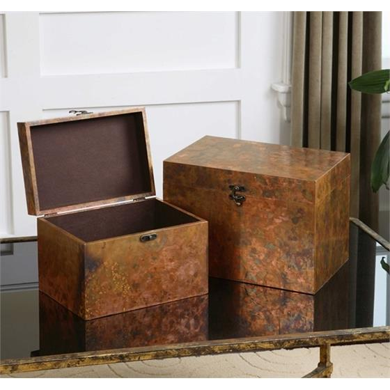 19827 Ambrosia Boxes S/2 by Uttermost