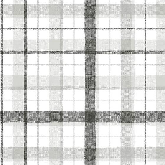 CK36628 Creative Kitchens Linen Plaid  Norwall Wal