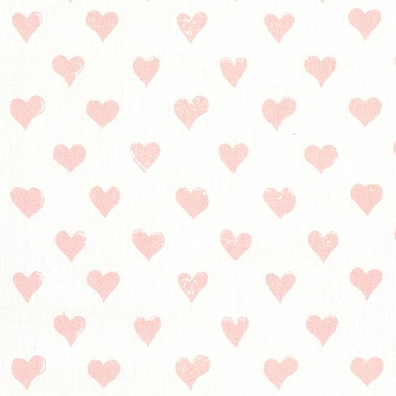 179590 Hearts Pink by Schumacher Fabric