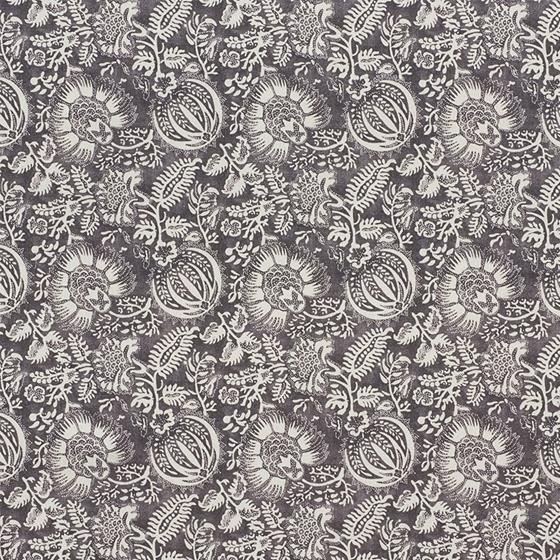 177691 Pomegranate Print Charcoal by Schumacher Fabric