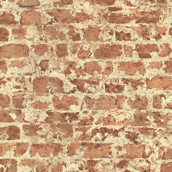 2774-446289 Stones and Woods Fairweather Red Distressed Brick by Advantage Wallpaper