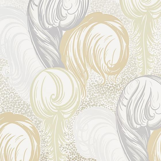 5009150 Plumes Champagne by Schumacher Wallpaper