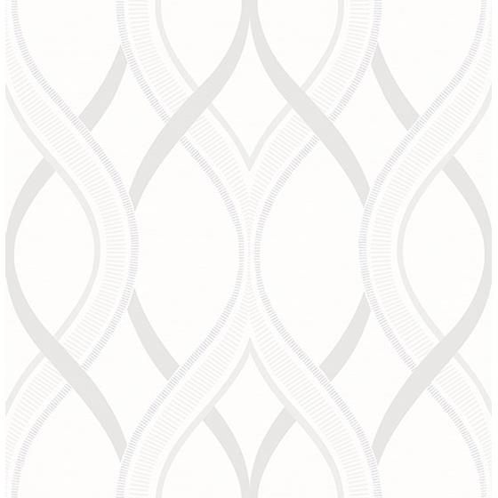 2625-21854 Symetrie Frequency Cream Ogee by A Street Prints
