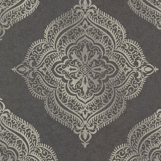 Decorline - Avalon Metallic Damask Wallpaper