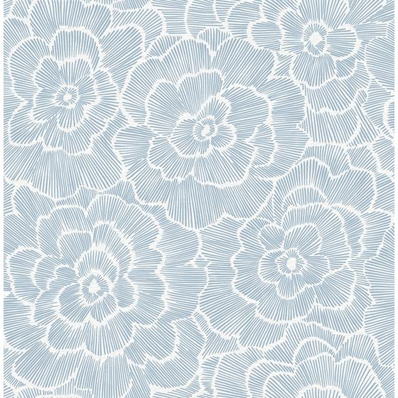 2969-26039 Pacifica Periwinkle Blue Textured Floral Blueby A-Street Prints Wallpaper