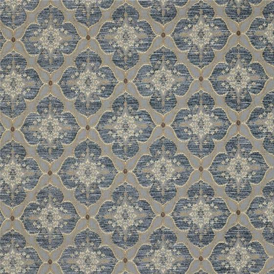 28828.540.0 Ornament Accent Cerulean Blue Upholstery Damask Fabric by Kravet Couture