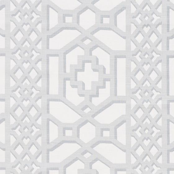 175745 Zanzibar Trellis Matte, Cloud by Schumacher