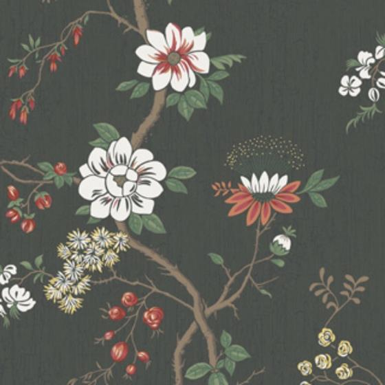 115-8026 Camellia, White Red Charco Print by Cole