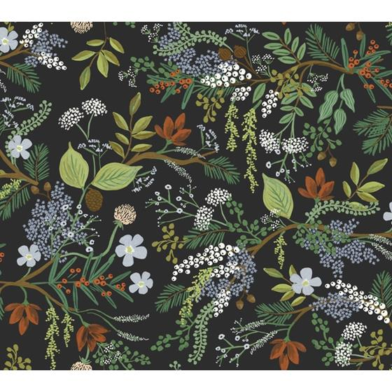 RI5166 Rifle Paper Co. Juniper Forest Black York Wallpaper