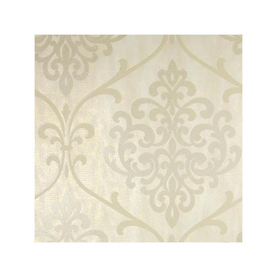 2542-20712 Sparkle Ambrosia Champagne Glitter Damask - Kenneth James Wallpaper