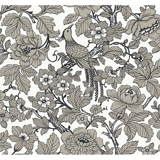 2927-80410 Newport Beaufort Black Peony Chinoiserie by A-Street Prints Wallpaper
