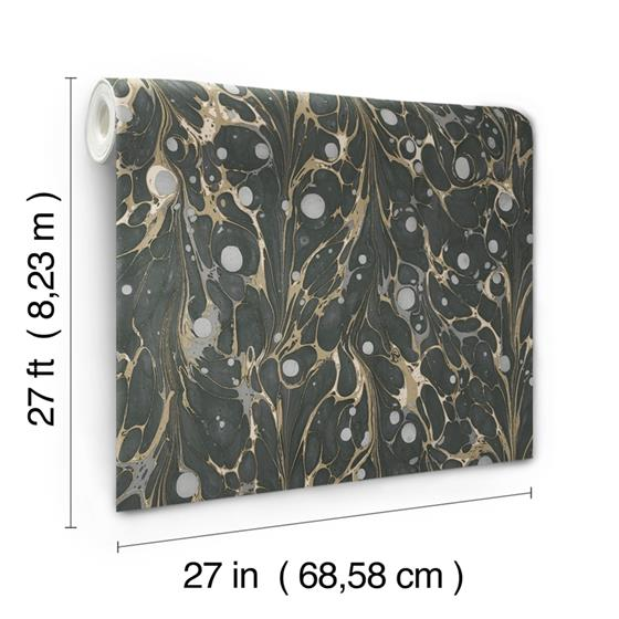NV5591 Modern Heritage 125th Anniversary Marbled Endpaper by York Wallpaper