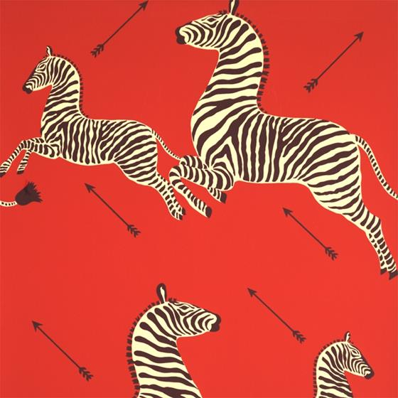 Scalamandre Zebra Wallpapers Masai Red Wallpapers