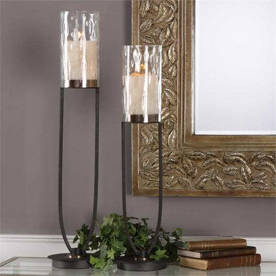 18835 Durga Candleholders S/2 by Uttermost