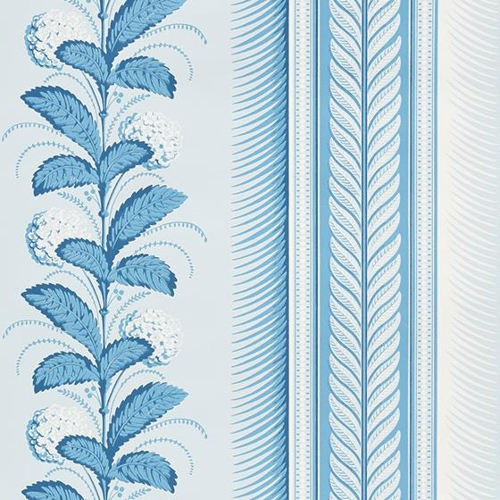5004454 Hydrangea Drape Delft by Schumacher Wallpaper